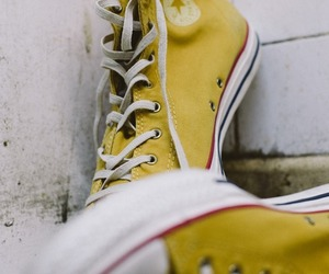 converse and yellow image