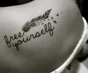 tattoo, free, and yourself image