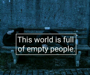 sad, quotes, and empty image