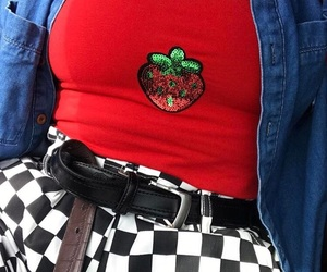 aesthetic, checkered, and fashion image