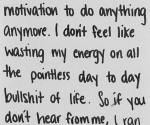 quotes, sad, and life image