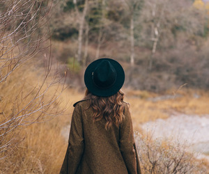 autumn, girl, and hat image