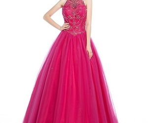 ball gowns, tulle dress, and halter dress image