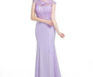lace dress, chiffon bridesmaid dress, and bridesmaids dresses image