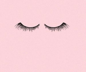 pink, eyelashes, and wallpaper image