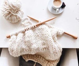 aesthetic, cozy, and knitting image