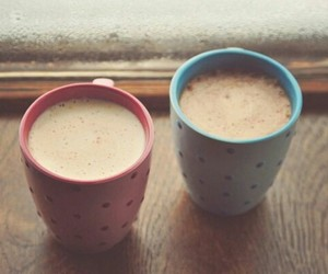 coffee, blue, and pink image