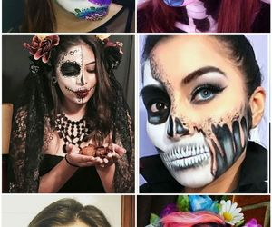 calavera, Halloween, and moda image