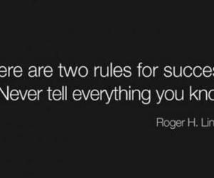 quote, success, and rules image