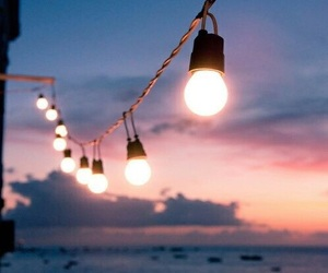 aesthetic, clouds, and hanging lights image