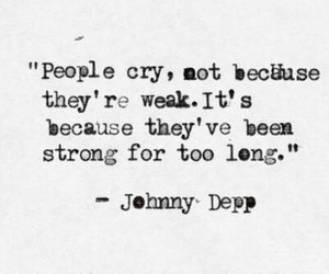quotes, johnny depp, and cry image