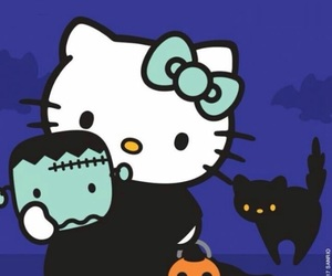 Halloween, HK, and hello kitty image