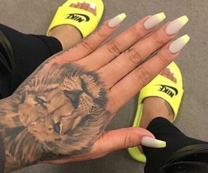 nails, tattoo, and nike image