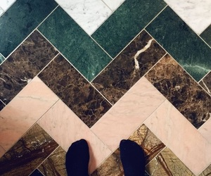 gold, green, and tiles image