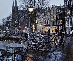 amsterdam, city, and cycle image
