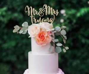 bridal, cake, and wedding image