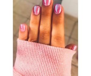 beauty, nails, and pink nails image