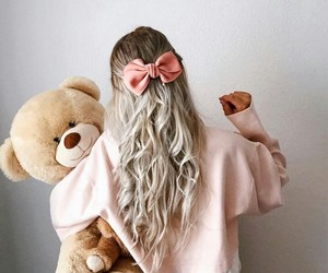hairstyle and teddybear image