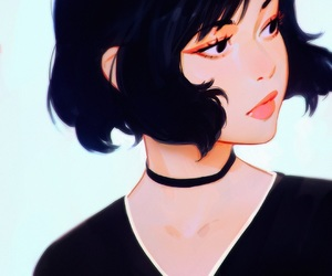 black, painting, and cute image
