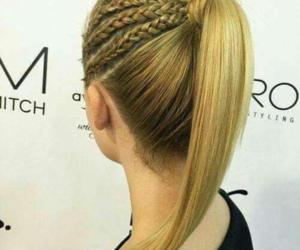 girl, cabello rubio, and trenzas image