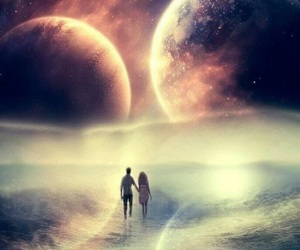 love, couple, and space image