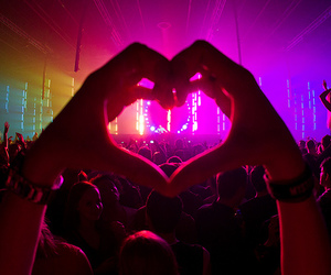 heart, concert, and party image