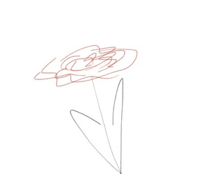 black, drawing, and flower image