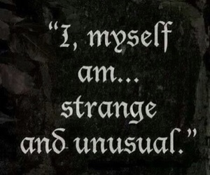 quotes and strange image