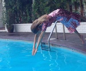gigi hadid, model, and pool image