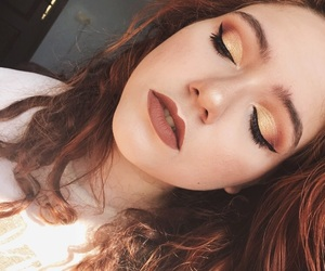eyeshadow, fall, and highlighter image