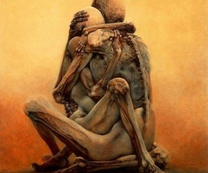 art, pain, and illustration image