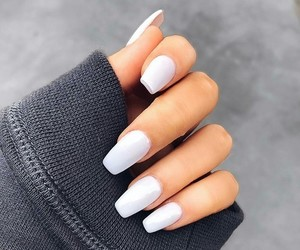 nail, white, and cute image