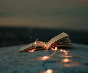 book, dreamy, and lights image