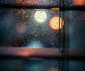 light, rain, and rainy day image