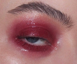 beauty, glossy eyes, and eye makeup image