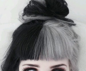hair, black, and eyes image