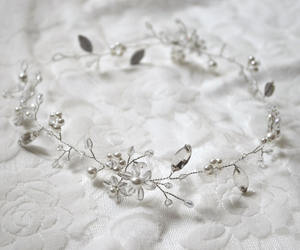 etsy, floral headpiece, and bridesmaids hair image