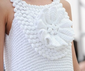 crochet, fashion, and model image