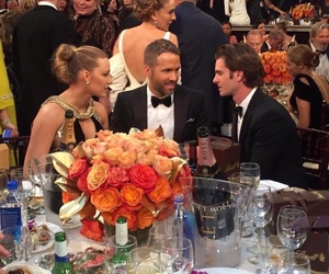 blake lively, ryan reynolds, and andrew garfield image