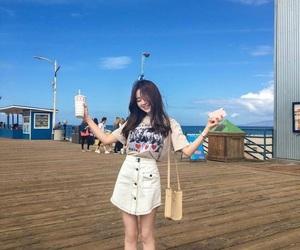 asian fashion, sunny day, and broadwalk image