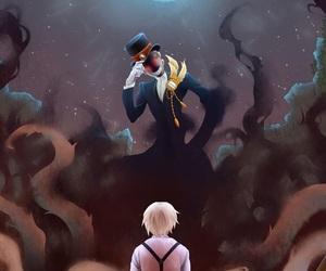 anime, creepy, and night sky image