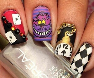 disney, nails, and alice image