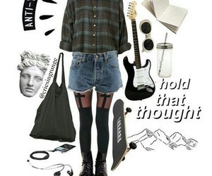 black boots, doc martens, and fashion image
