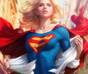 art and Supergirl image