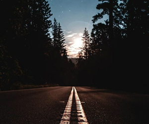nature, night, and road image