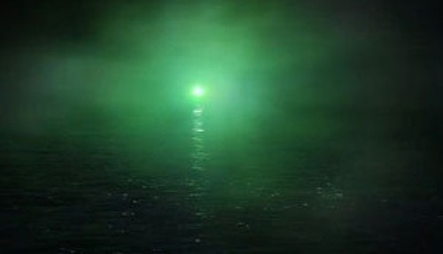 the great gatsby and green light image