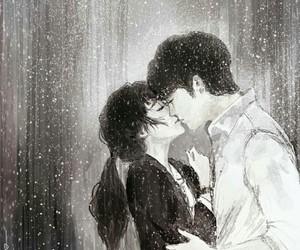couple, anime, and kiss image