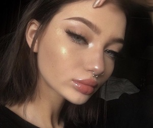 girl, beautiful, and highlight image