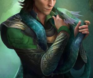 loki, Marvel, and snake image