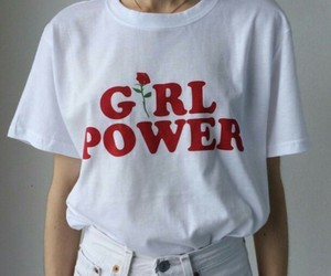 girl power, t-shirt, and future is female image